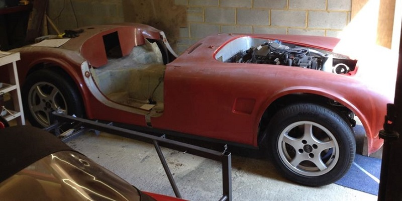 Cobra shell on tvr frame